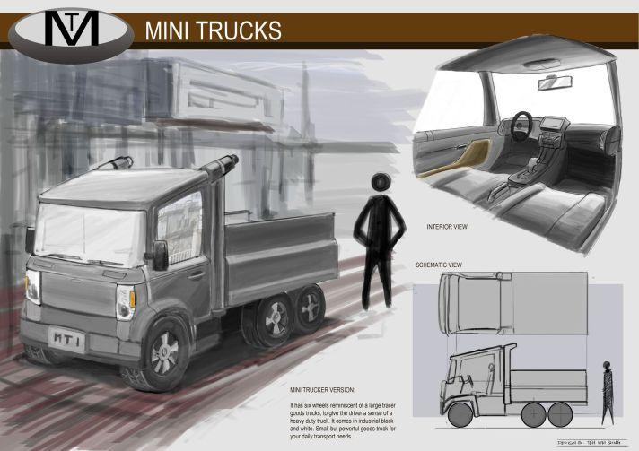 Concept Vehicle Mini Trucks 01