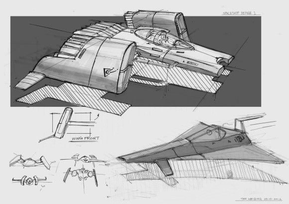 spaceship sketches