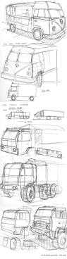 VW Van Sketch and Trucks