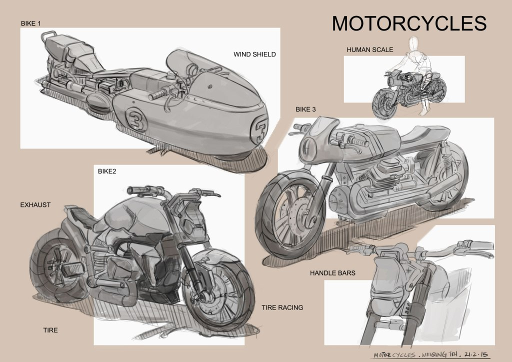Motor Cycle Drawings